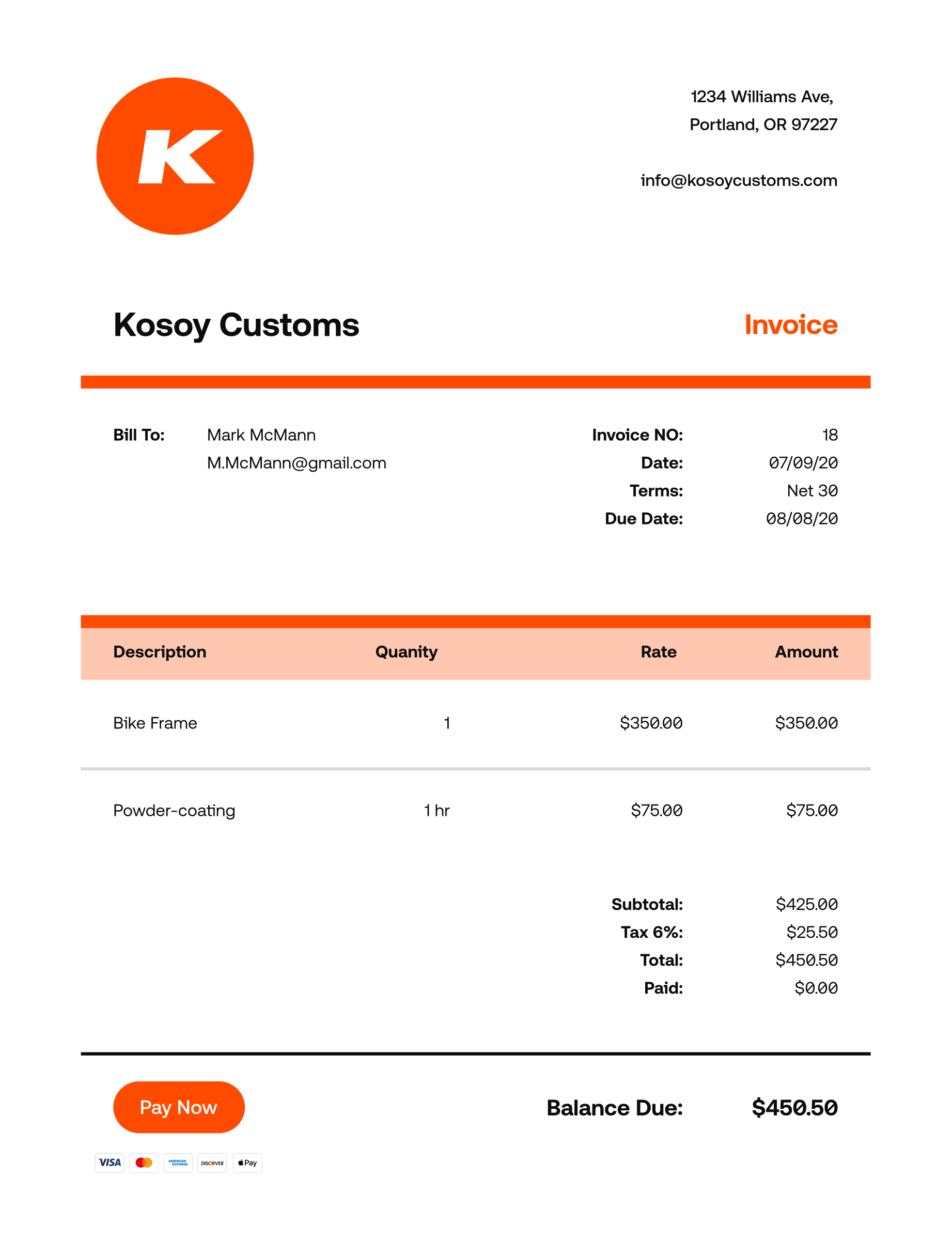 Invoice Template Guide How To Create A Professional Invoice Invoice2go